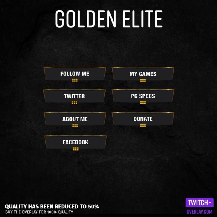 Golden Elite Stream Panels
