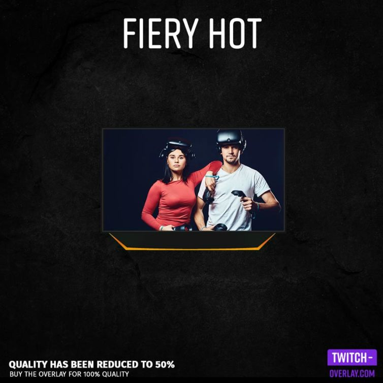 Fiery Hot Facecam Overlay