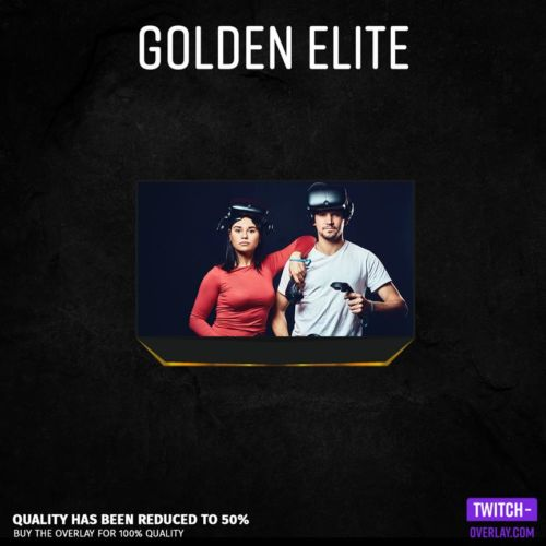 Feature Quality Preview of Golden elite Facecam Overlay for Twitch or Youtube