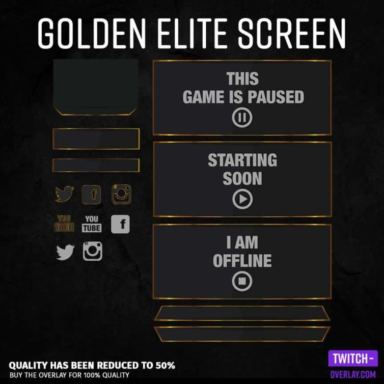 Golden Elite Screen – Stream Design