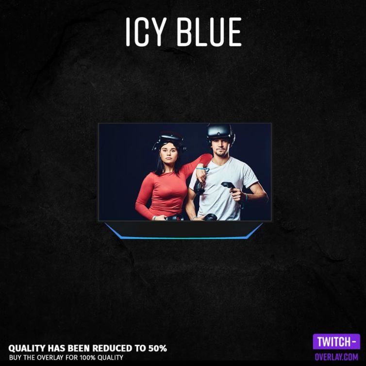 Icy Blue Facecam Overlay