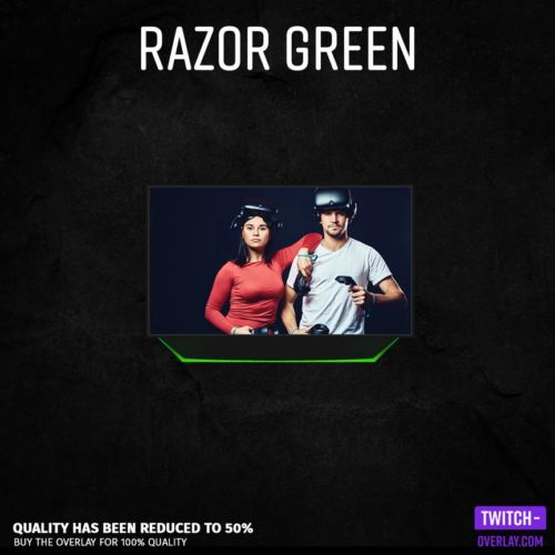 Feature Razor Green Facecam Stream Overlay