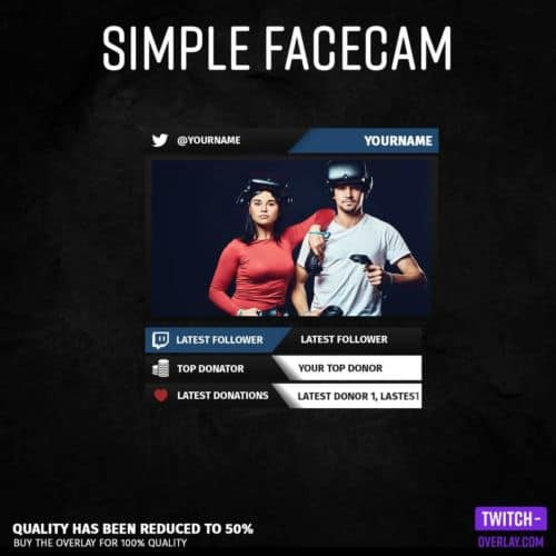 Feature Image for the simple Facecam stream Overlay