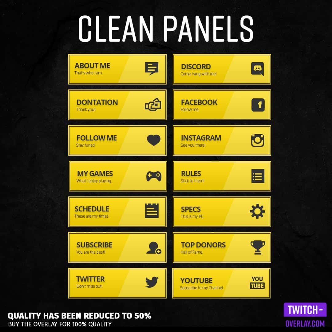 Feature Image of the Clean Stream Panels Yellow