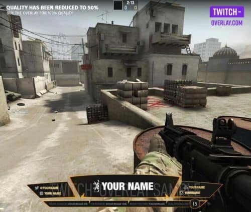 Counterstrike Overlay Fiery Hot