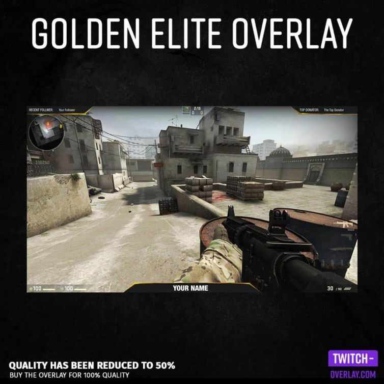 Golden Elite Counterstrike Overlay