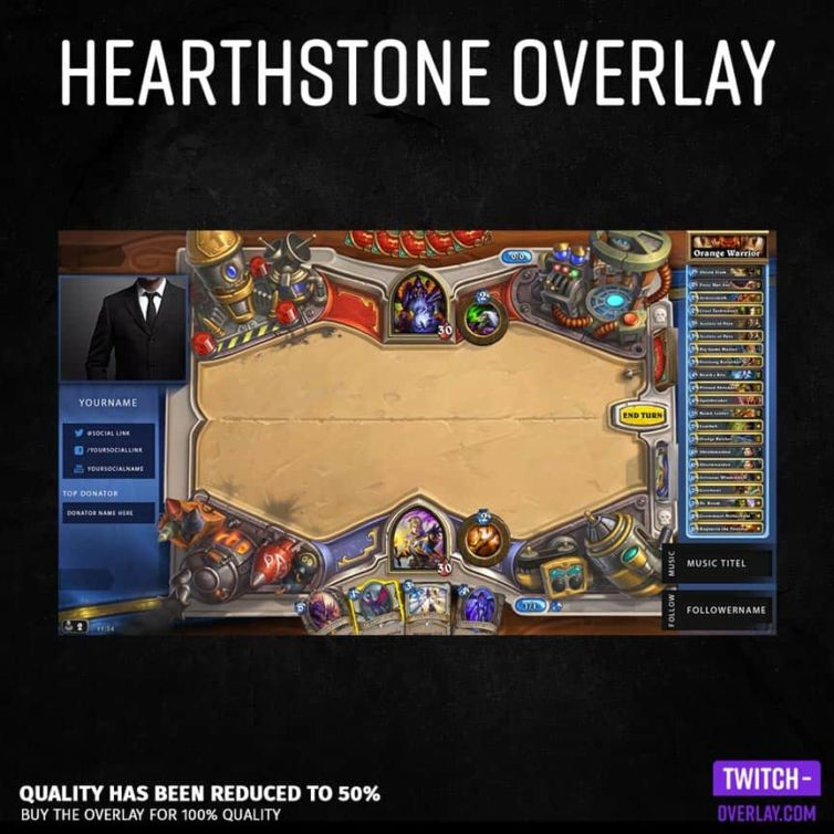 Hearthstone Stream Overlay Clean