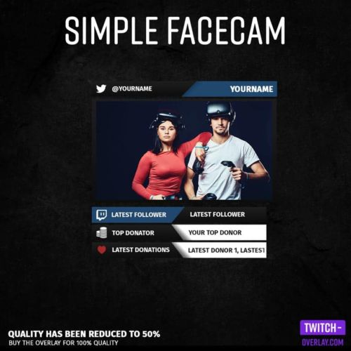 Preview Image for the simple Facecam stream Overlay