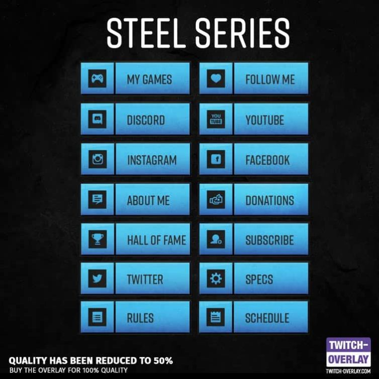 Steel Series Stream Panels