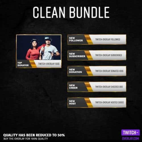 Feature Image for the Clean Streaming Bundle with colors golden, red, yellow, blue, green, purple and orange