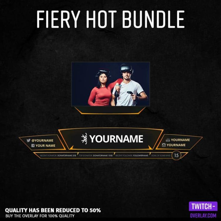 Fiery Hot Overlay Bundle
