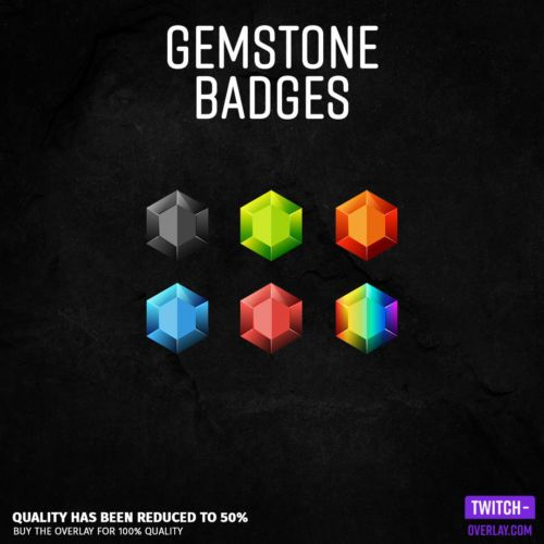 Twitch Subscriber Badges in Gemstone Optik