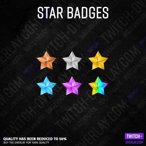 Twitch Subscriber Badges in Star Optics