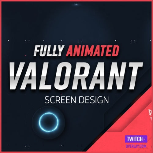 fully animated stream screens in valorant design from the valorant stalker edition