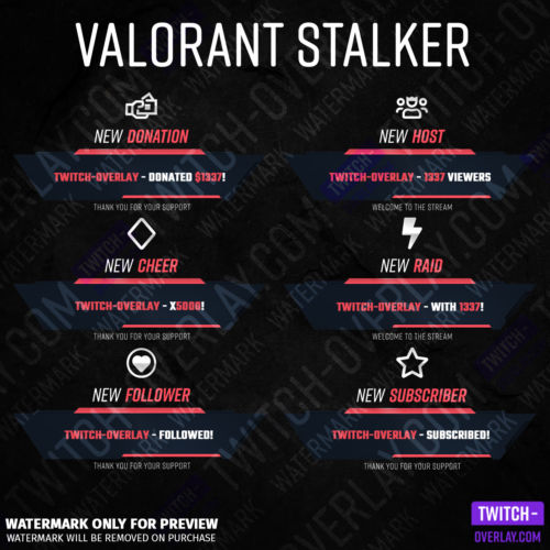 Preview Picture for our animated Stream alerts of the Stalker Edition