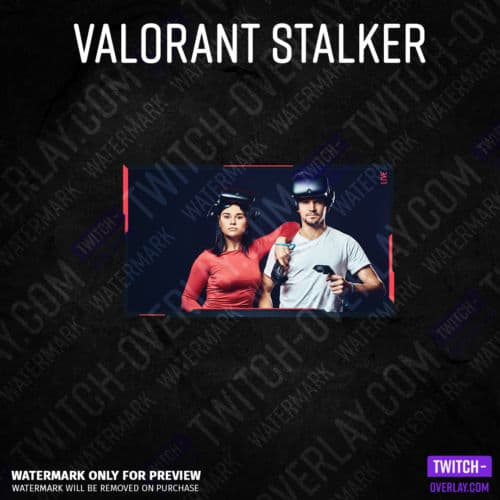 Valorant Webcam Overlay Stalker Edition Full Cam Overlay without donation bar