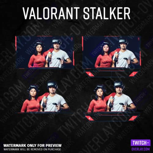 Valorant Webcam Overlay Stalker Edition every part on one picture