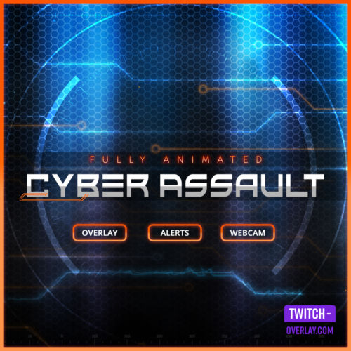 Cyber Assault Stream Bundle for Twitch, Facebook and YouTube Streams