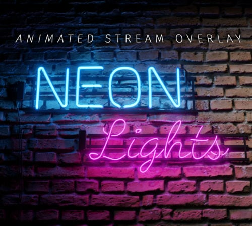Animiertes Neon Lichter Stream Bundle thumbnail