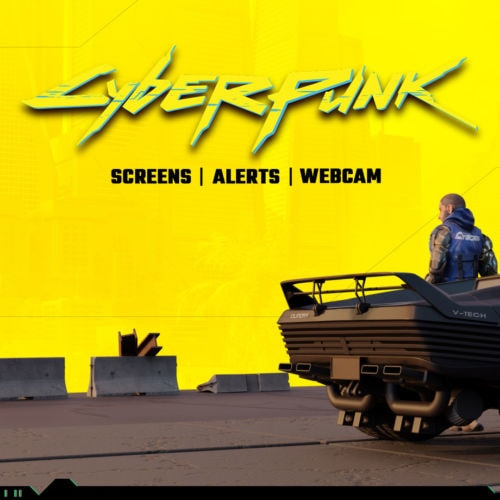 Cyberpunk animiertes Stream Bundle für Twitch, YouTube und Facebook