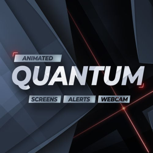 Quantum animiertes Stream Bundle für Twitch, YouTube und Facebook