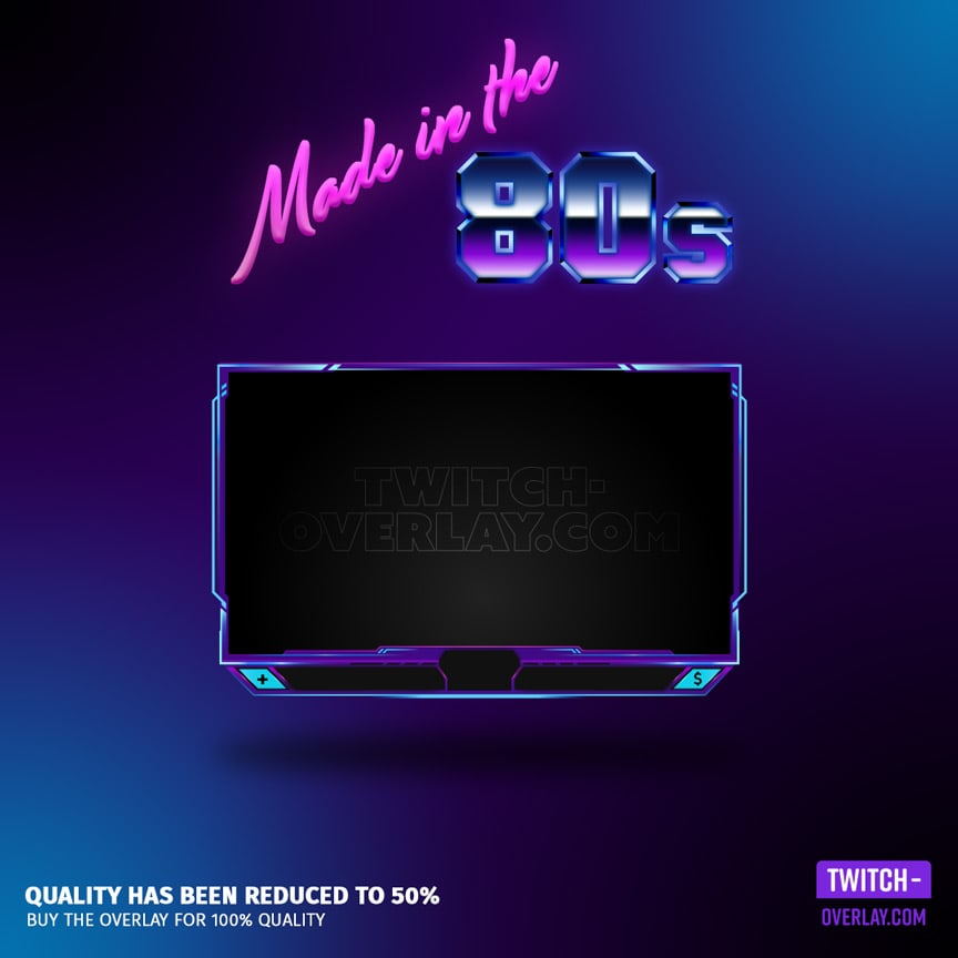 Animated Webcam Overlay for streams, 2nd best animated twitch overlay 2020