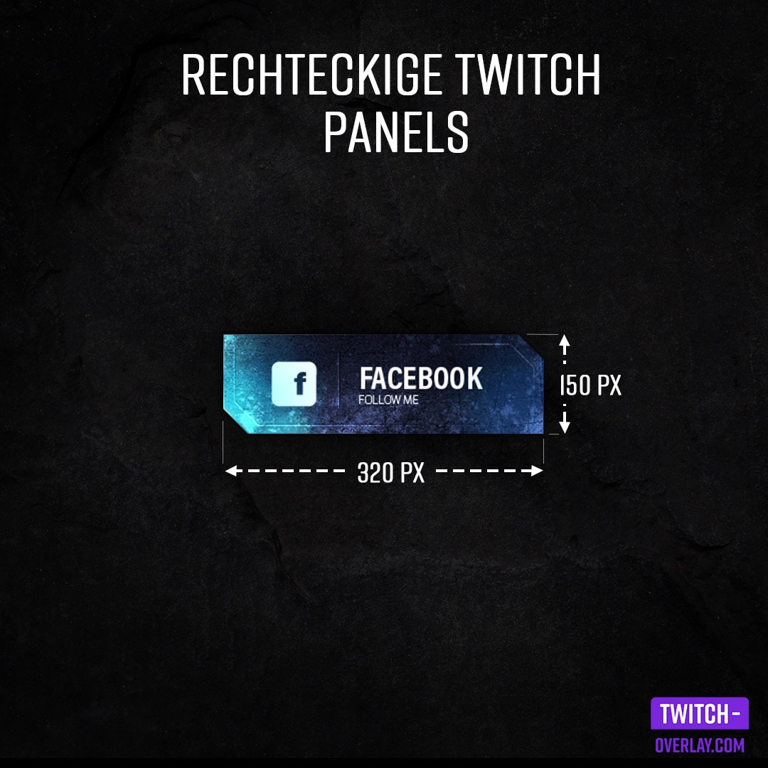 Twitch Panel Size Guide - Best twitch panel size for a rectangle twitch panel