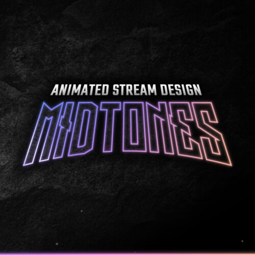 Midtones animated Stream Bundle for Twitch, YouTube and Facebook