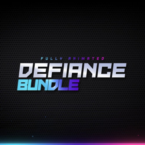 Defiance animated Twitch Bundle for Twitch, YouTube and Facebook